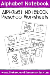 Alphabet Notebook Preschool Worksheets