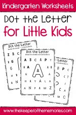 Dot the Letter Alphabet Kindergarten Worksheets