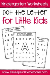 Dot the Letter Alphabet Kindergarten Worksheets with text: Kindergarten Worksheets Dot the Letter for Little Kids