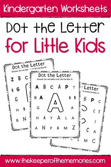 Dot the Letter Alphabet Kindergarten Wo