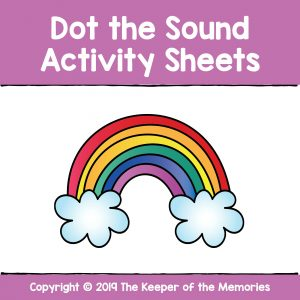 Dot the Sound Activity Sheets Alphabet Worksheets