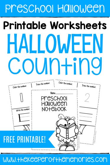 Free Printable Halloween Counting Notebook