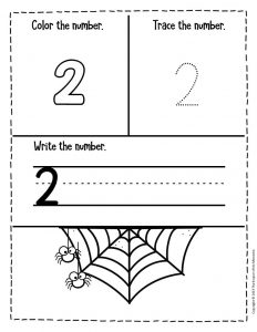 Numbers Halloween Preschool Worksheets 2