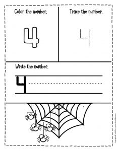 Numbers Halloween Preschool Worksheets 4