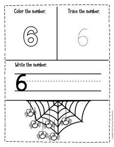 Numbers Halloween Preschool Worksheets 6