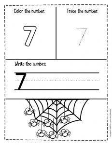 Numbers Halloween Preschool Worksheets 7