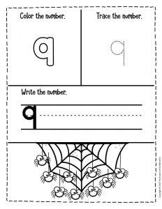 Numbers Halloween Preschool Worksheets 9