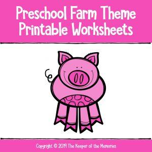 Preschool Worksheets Free Printable Farm Theme