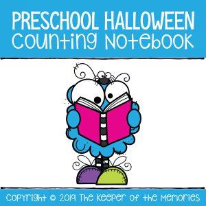 Preschool Halloween Printable Counting Notebook 1-10 Number Worksheets