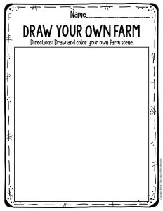 Preschool Worksheets Draw Your Own Farm