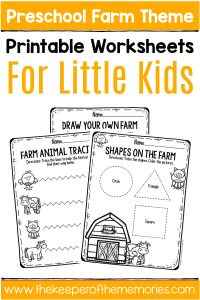 Free Printable Farm Preschool Worksheets