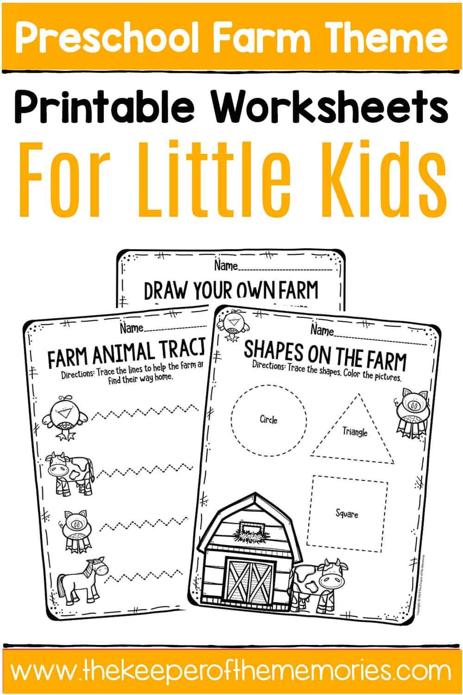 - Free Printable Farm Preschool Worksheets - The Keeper Of The Memories