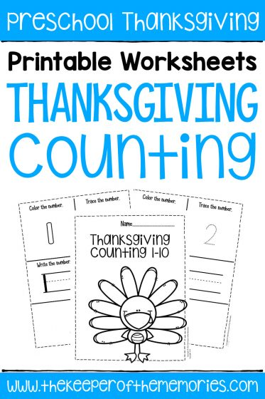 Preschool Worksheets Halloween Counting Notebook
