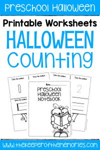 Free Printable Numbers Halloween Preschool Worksheets