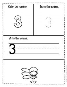 Preschool Worksheets Thanksgiving Counting 3