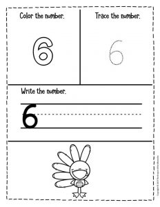 Preschool Worksheets Thanksgiving Counting 6