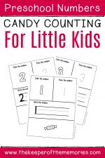 Counting Candy Numbers Preschool Worksheets