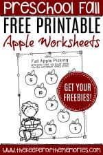 Free Printable Apple Worksheets for Preschoolers & Kindergartners