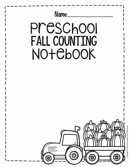 Fall Counting Notebook Preschool Worksheets