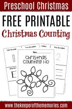 Free Printable Numbers Christmas Preschool Worksheets