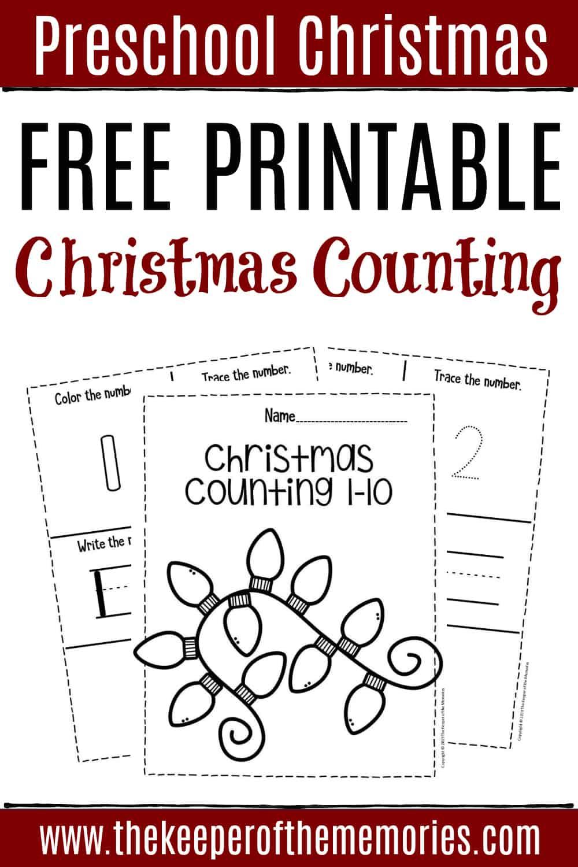 Free Printable Numbers Christmas Preschool Worksheets