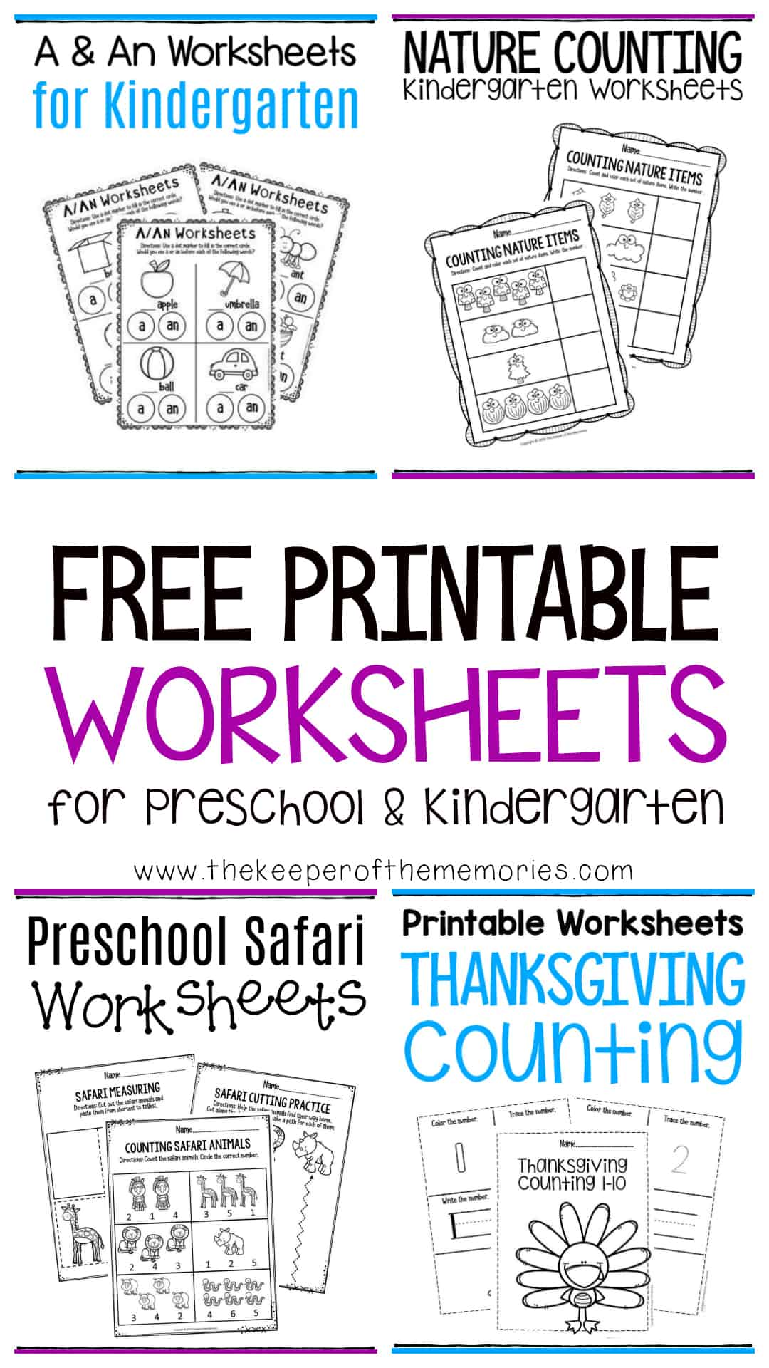 Free Printable Worksheets for Preschool & Kindergarten ...