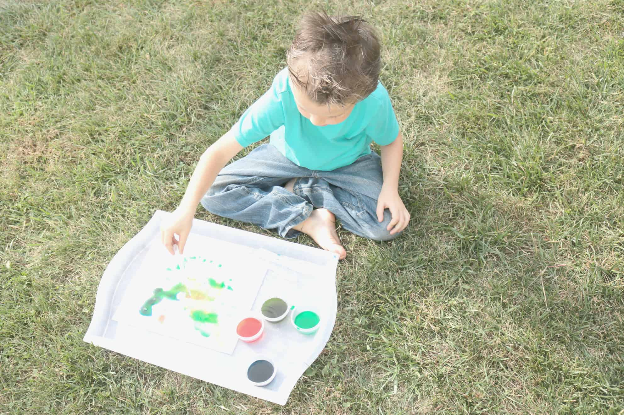 Friendship Preschool Monthly Theme Salt Painting Activity