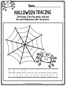 Literacy Halloween Preschool Worksheets Halloween Tracing