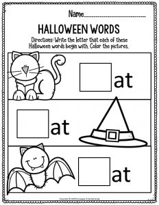 Literacy Halloween Preschool Worksheets Halloween Words