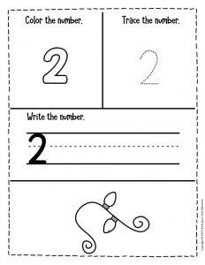 Numbers Christmas Preschool Worksheets 2