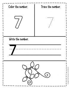Numbers Christmas Preschool Worksheets 7