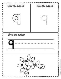 Numbers Christmas Preschool Worksheets 9
