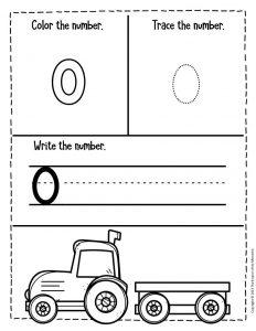 Numbers Fall Preschool Worksheets 0