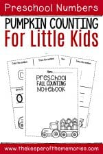 Numbers Fall Preschool Worksheets