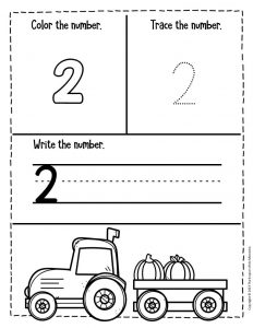 Numbers Fall Preschool Worksheets 2