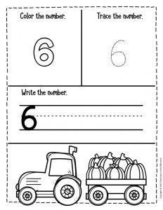 Numbers Fall Preschool Worksheets 6