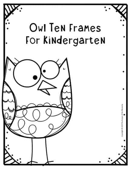 Owl Ten Frames for Kindergarten