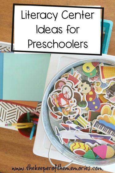 Preschool Literacy Center Ideas