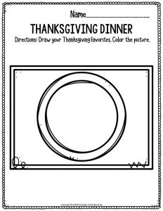 Printable Fine Motor Thanksgiving Preschool Worksheets Thanksgiving Dinner