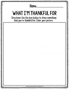 Printable Fine Motor Thanksgiving Preschool Worksheets What I'm Thankful For
