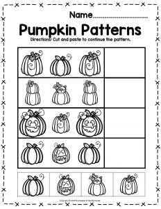 Pumpkin Math Halloween Preschool Pumpkin Patterns