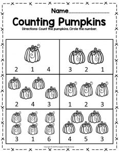 Free Printable Pumpkin Worksheets For Preschoolers Kindergartners