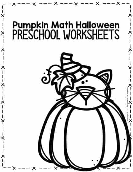 Pumpkin Math Halloween Preschool Worksheets