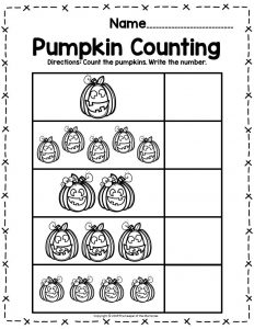 Pumpkin Math Halloween Preschool Worksheets Pumpkin Counting