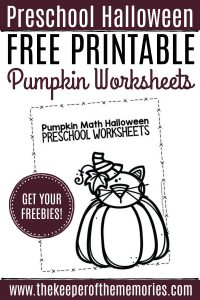 Free Printable Pumpkin Worksheets for Preschoolers & Kindergartners