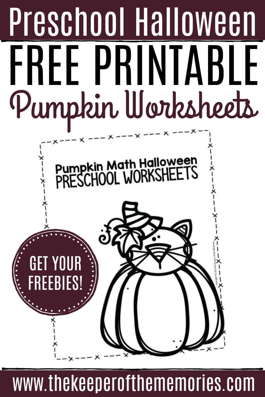 Free Printable Pumpkin Worksheets for Preschoolers & Kindergartners