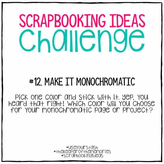 Scrapbooking Ideas Challenge 12