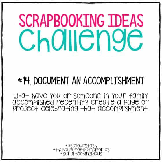 Scrapbooking Ideas Challenge 14