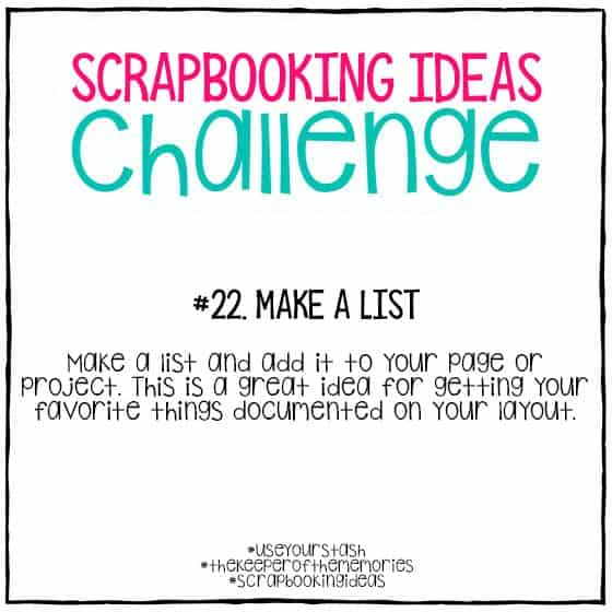 Scrapbooking Ideas Challenge 22