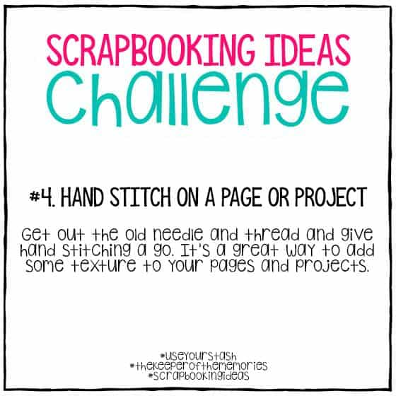 Scrapbooking Ideas Challenge 4